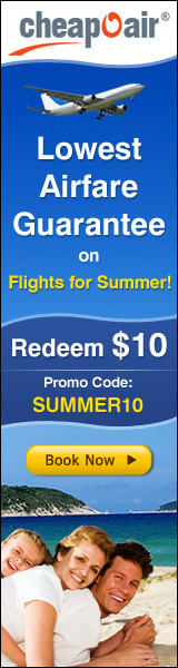 Lowest Airfare Guarantee on Spring Flights 2010. Get $10 off using coupon code SPRING10