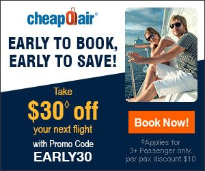 Early to Book, Early to Save! Take $30 off your next flight with promo code EARLY30. Book Now!