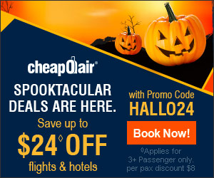 Spooktacular Deals Are Here. Save up to $24◊ off flights & hotels with promo code HALLO24. Book Now!