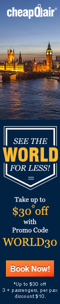 See the World for Less! Take up to $30◊ off with Promo Code WORLD30. Book Now!