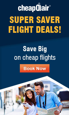 Don't miss CheapOair's Super Saver Flight Deals! Save up to $30 with Promo Code: FLIGHT30