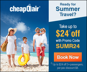 Ready for Summer Travel?  Take up to $24◊ off with Promo Code SUMR24 Book Now!