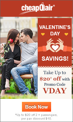 Valentine's Day Savings!  Take up to $20◊ off with Promo Code VDAY. Book Today!