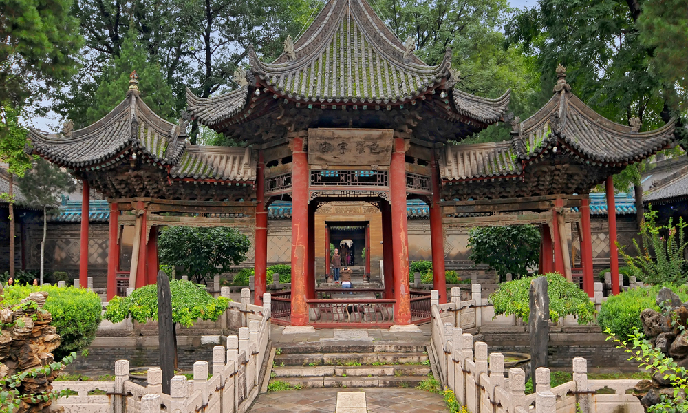 The Great Mosque in Muslim Quarter in old city, Xi'an China.