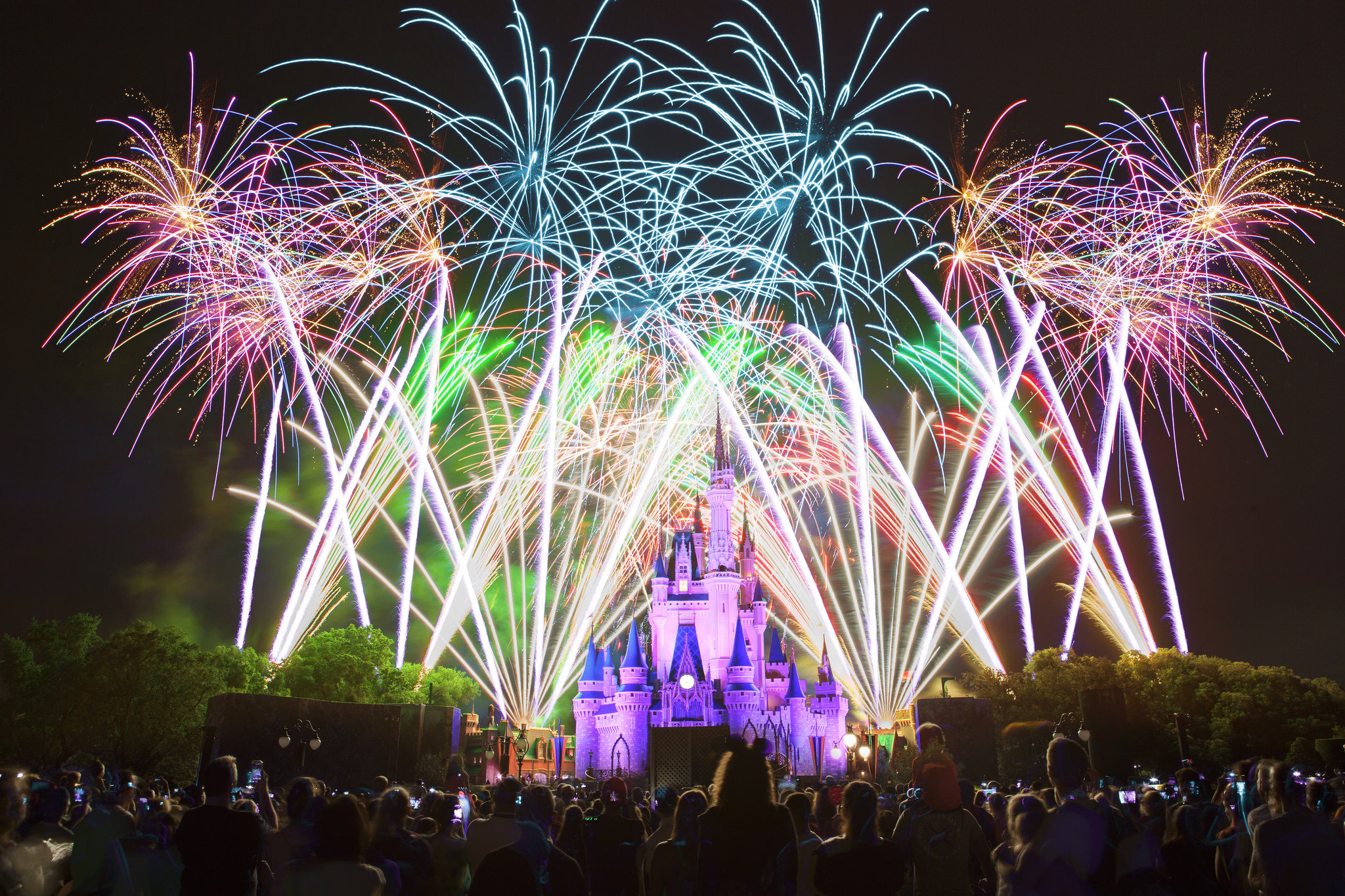 Walt Disney World Magic Kingdom Wishes Fireworks 2015 by Anthony Quintano is Licensed Under CC by 2.0