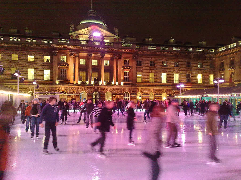 """ice skating"" at ""somerset house"" by fsse8info is licensed under CC 2.0."