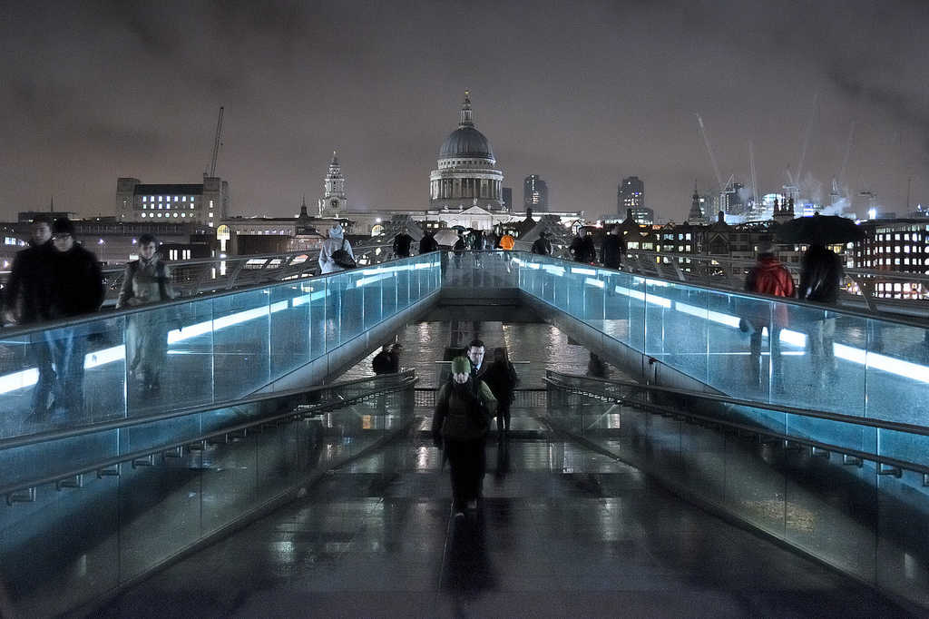 """Millenium Bridge"" by Andrew Stawarz is licensed under CC 2.0."