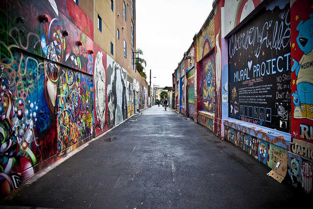 """""""Clarion Alley Mural Project"""" by Sean Davis is licensed under CC BY-ND 2.0"""