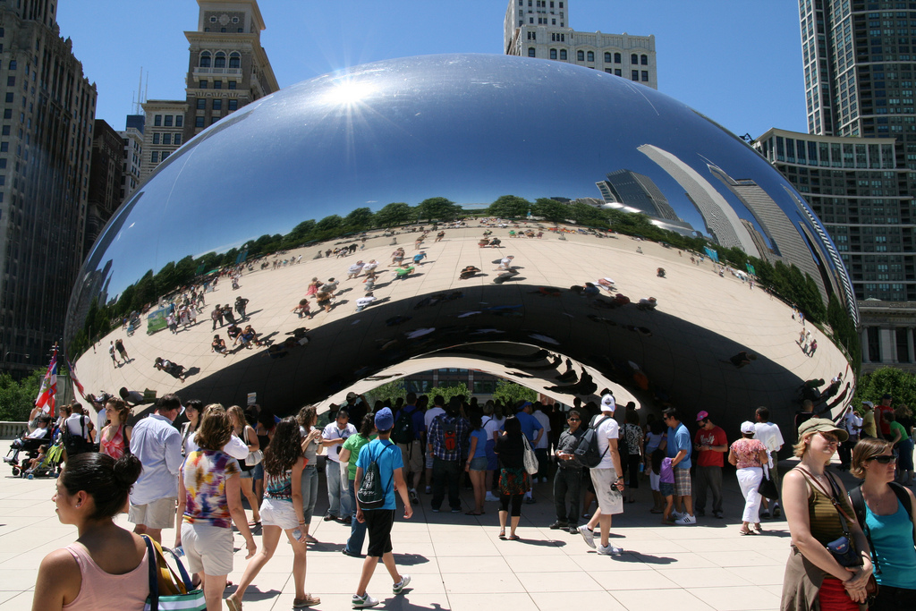 """""""Cloud Gate"""" by Bernt Rostad is licensed under CC 2.0."""