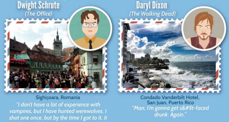 Fictional Characters Share Their Dream Destinations - CheapOAir.com