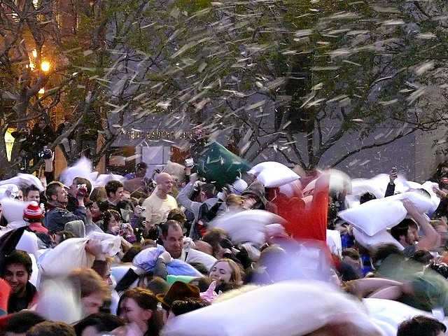 """""""Great San Francisco Pillow Fight 2008"""" by Ingrid Taylar is licensed under CC BY 2.0"""