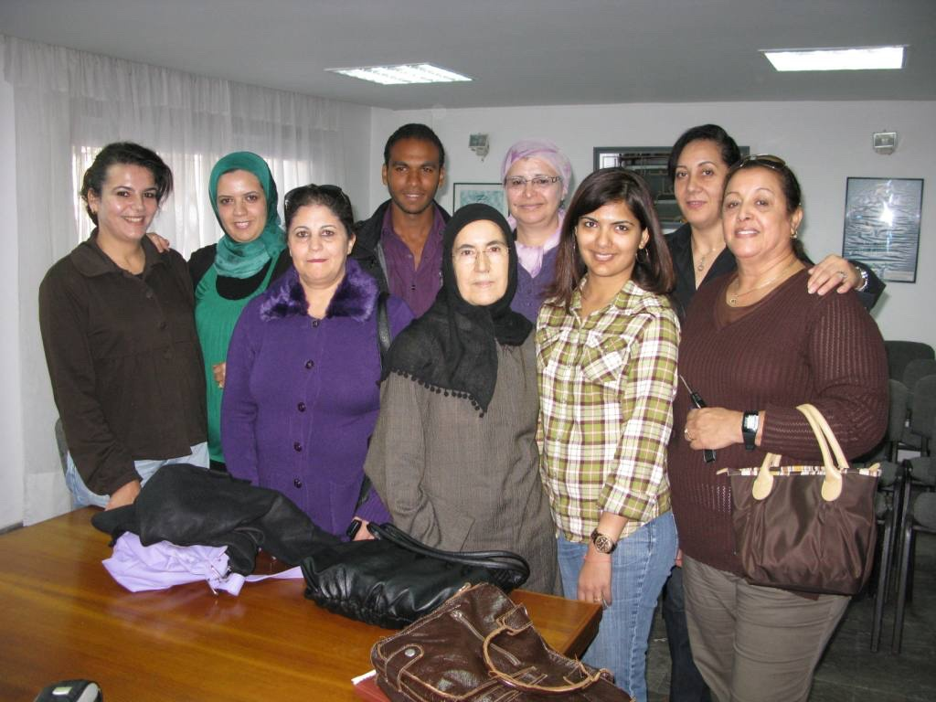 Teaching English at women's empowerement center in Rabat, Morocco