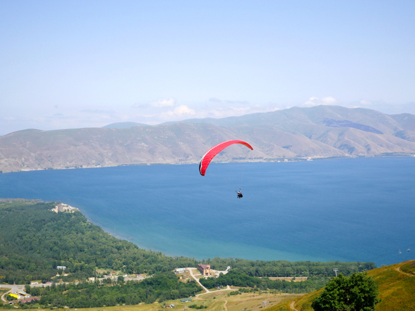 Lake Sevan is the second highest lake in the world after Titikaka.
