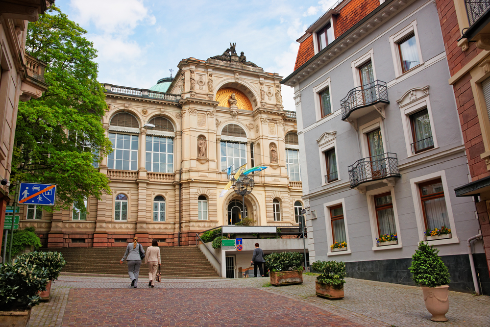 Friedrichsbad Spa in Baden-Baden, Baden-Wurttemberg of Germany. Baden Baden is a spa town. People on the background