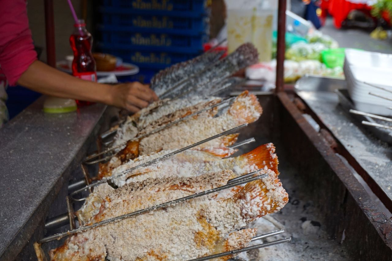 grilled-fish Bangkok street food