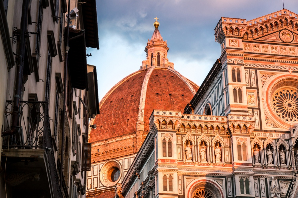 The wonderful architecture of the main Cathedral in Florence, Italy