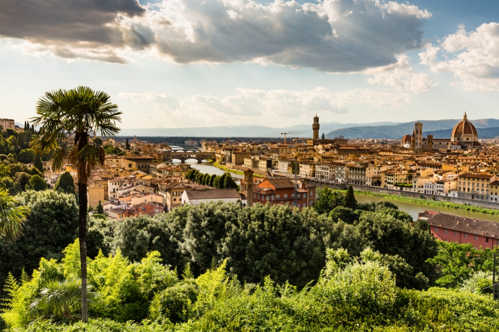 Florence cityscape overlook from Piazzale Michelangelo