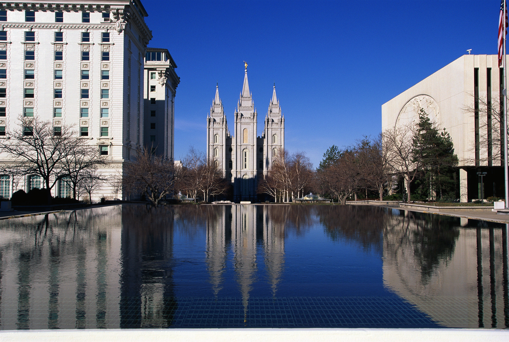 Temple Square which is the home of the Mormon Tabernacle Choir in Salt Lake City, Utah