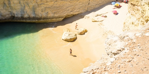 hidden beach by the sea - Portugal, Algarve