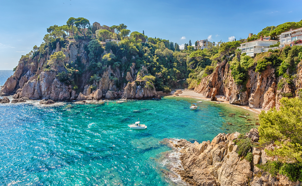View from the gardens Marimurtra of Sa Forcanera, Blanes, Costa Brava, Catalonia, Spain.