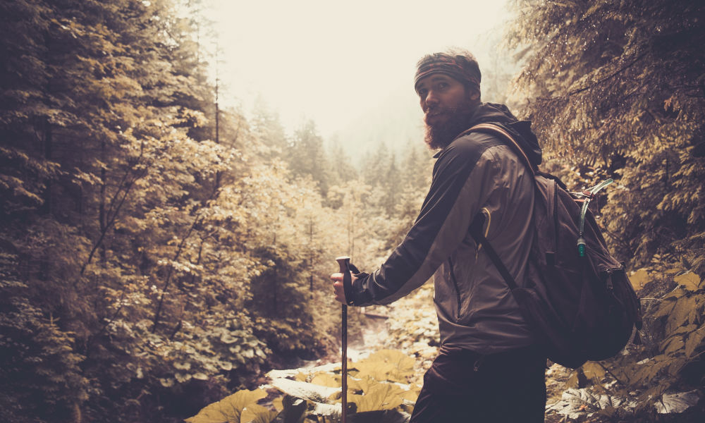 man-hiking-in-the-forest