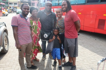 saying goodbye to our friends in Ghana