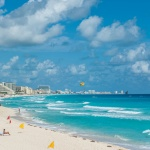 Cancun beach panoram</div><div class=