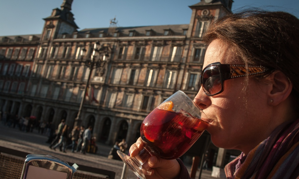 drinking sangria in spain