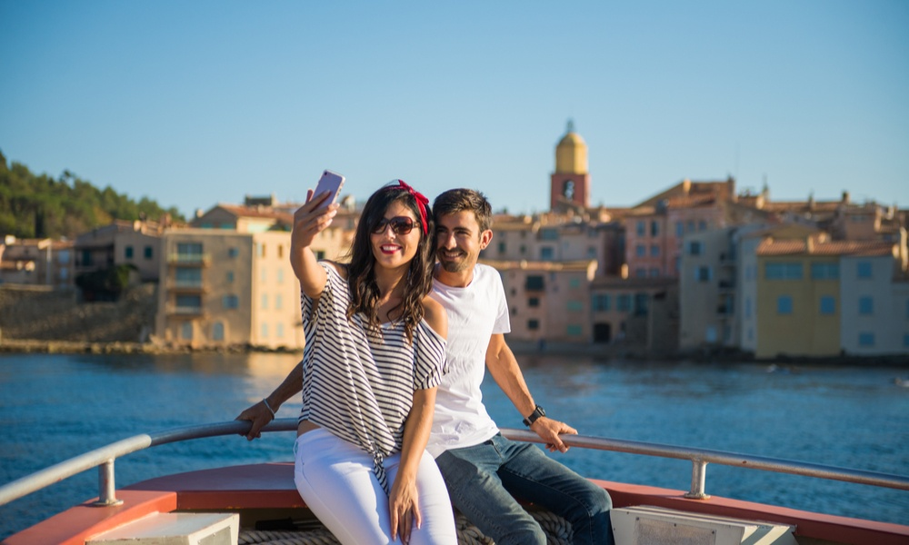 Tourists in the French Riviera