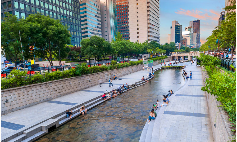 Cheonggyecheon Stream Seoul, South Korea
