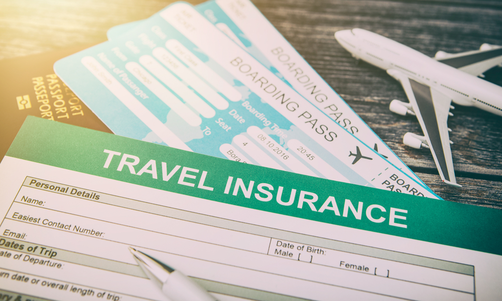 filling up a travel insurance form