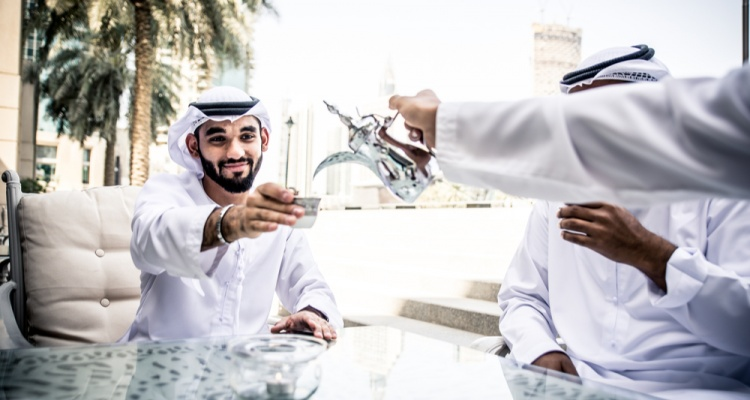 Business men spending time in Abu Dhabi
