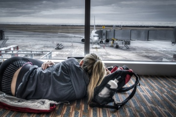 How to sleep in airport
