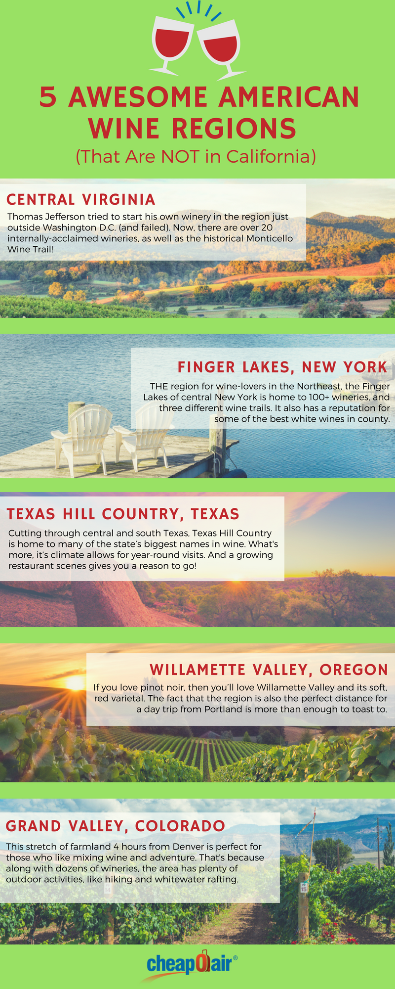 awesome american wine regions (that are NOT) in California
