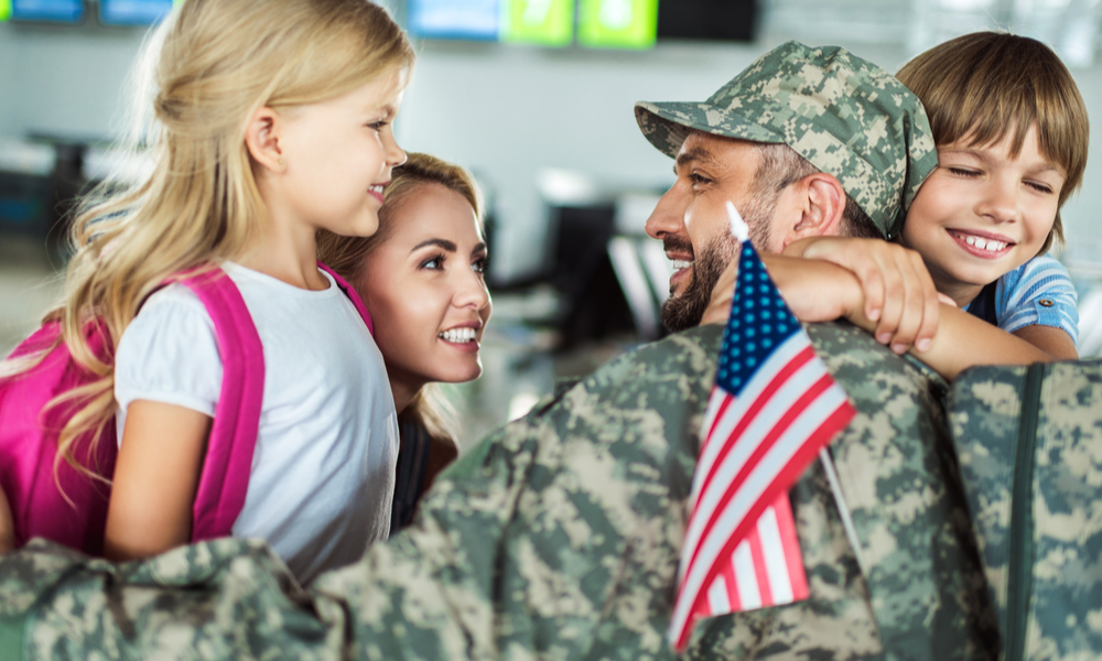 Military family reunited at airport