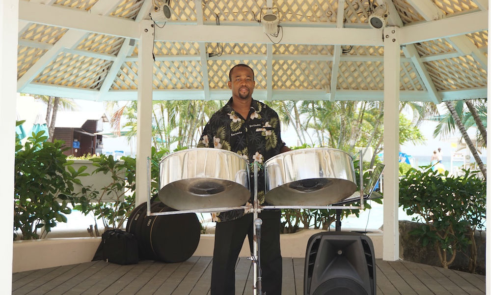 man playing the steel drums, barbados