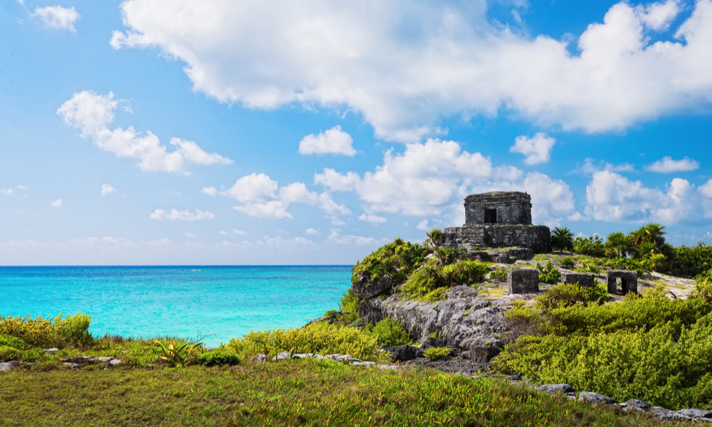 Mayan ruins of Tulum. Located on the Yucatan Peninsula of Mexico