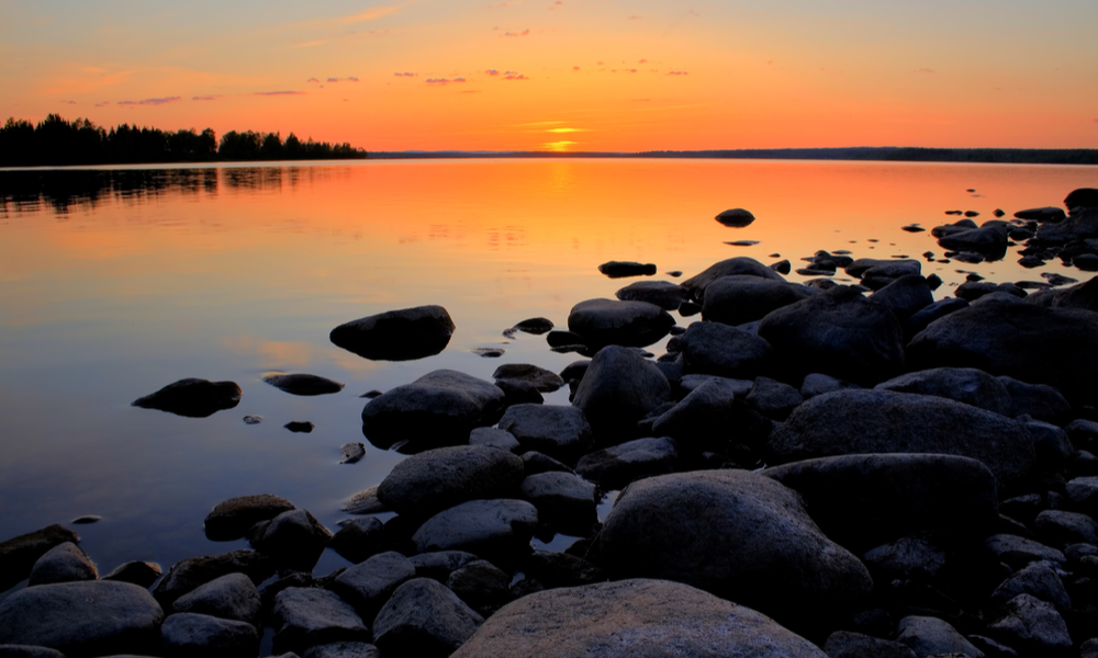 midnight sun in the northern part of sweden