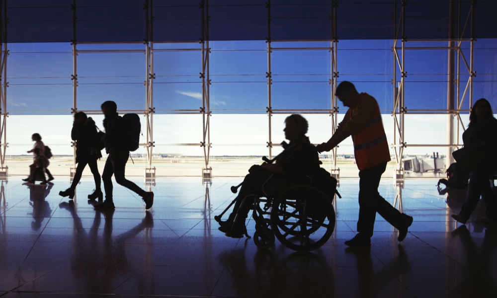 traveling through airport with wheelchair
