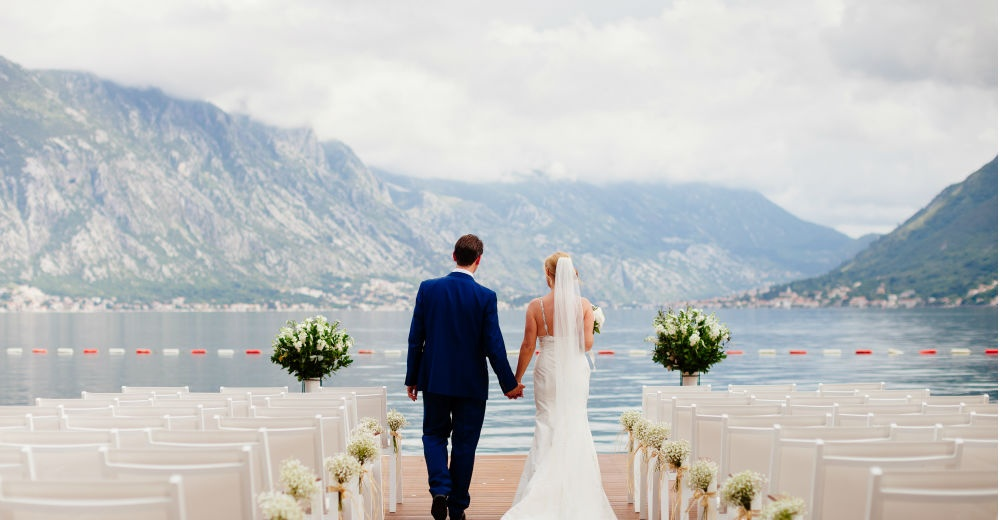 bride and groom at a destination wedding