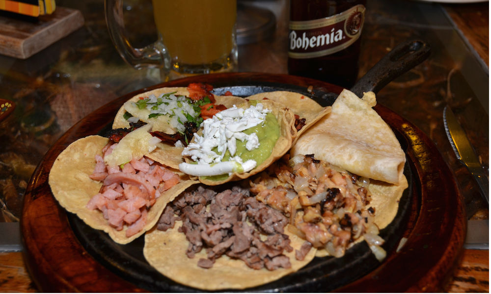 selection of tacos, mexico city