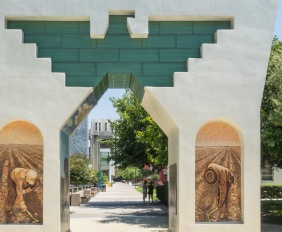 Cesar Chavez Monument: Arch of Dignity, Equality and Justice on the grounds of San Jose State