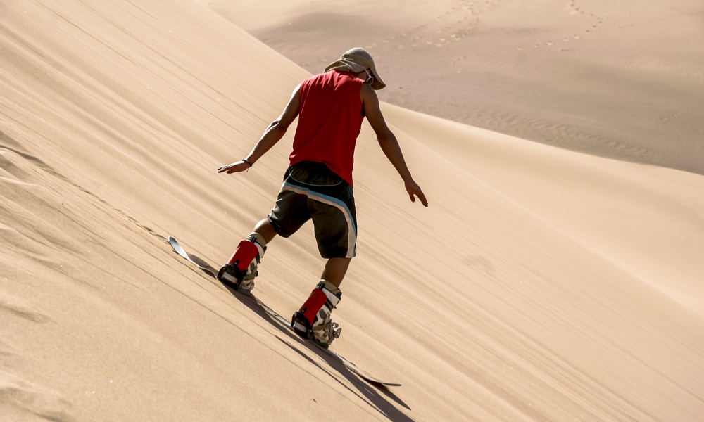 Sandboarding in the Dessert of the Atacama, San Pedro de Atacama, Chile, South America
