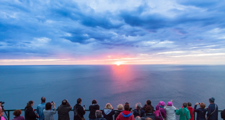 Midnight sun at north cape - Norway