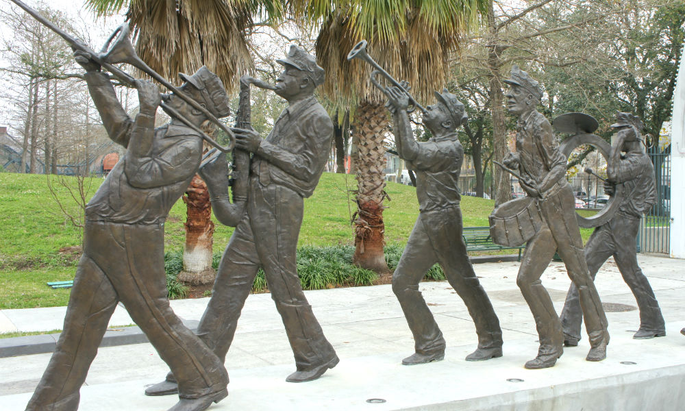 sculpture at louis armstrong park, new orleans