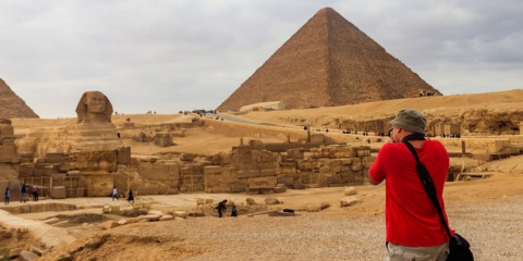 tourist in Cairo