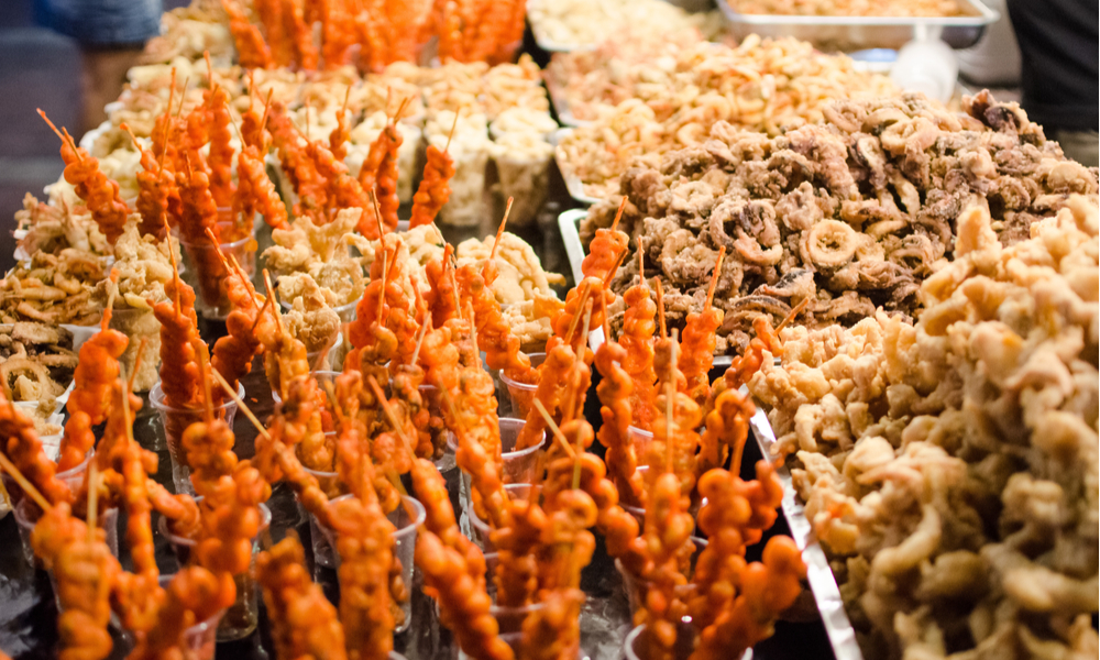 Mixed Philippine street foods