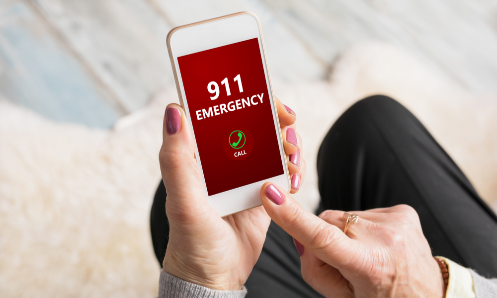 calling 911 on cell phone