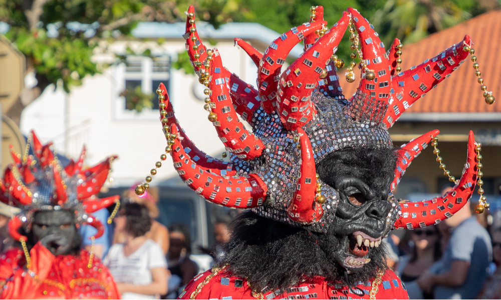 Carnival in Martinique in the city of Sainte-Anne