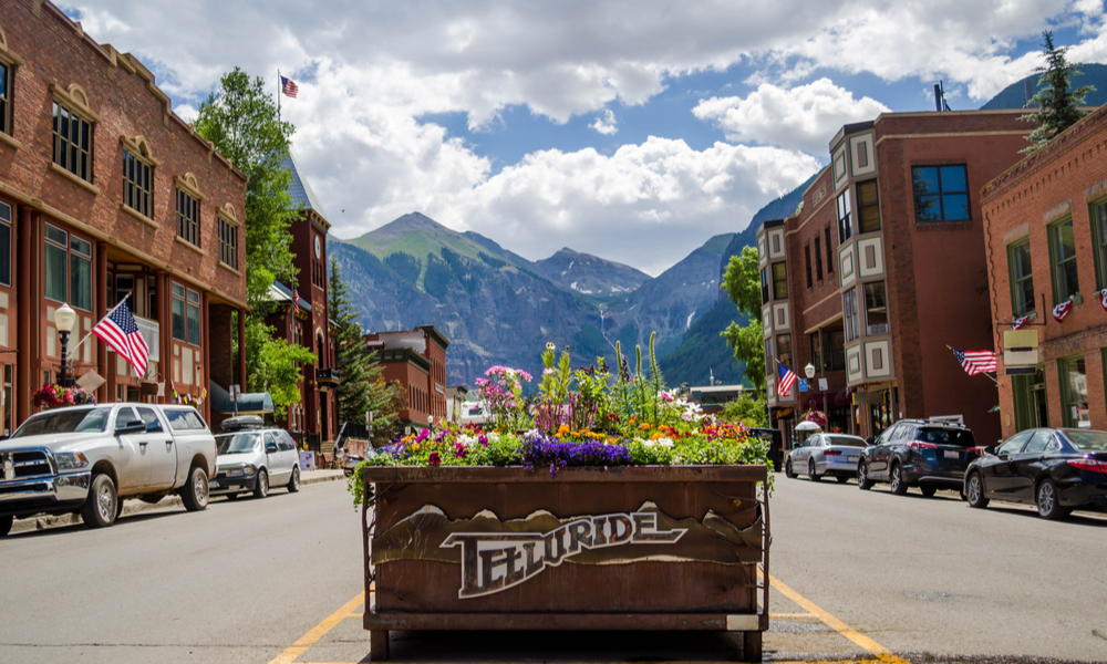 Downtown Telluride in the Spring
